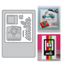 YaMinSanNiO 5PCS/lot Camera Metal Cutting Dies Scrapbooking Polaroid Journal 2019 Decorative Card Making DIY