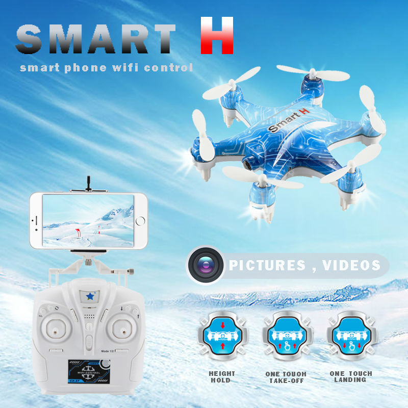 Cheerson CX-37-TX Smart-H RC Mini Drone with Camera 0.3MP WiFi FPV Phone Control Photo Shooting Real Time Video Transmission cheerson cx 91 cx 91a jumper uav with 2mp camera remote control drone brushless motors fpv real time video high speed rc toys