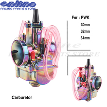 28 30 32 34mm Motorcycle PWK Carburetor Carburador Carb for 110cc - 250cc 2T 4T two stroke Engine Scooter Dirt Pit Bike colorful