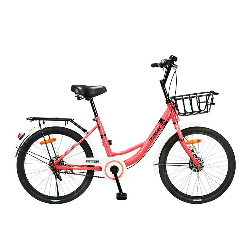 Solid Tire 22 Inches Bicycle Common Commuting Sharing Simple And Fresh Pastoral Convenience