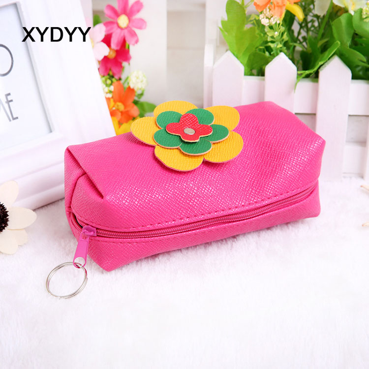 XYDYY 2017 New Coin Purse Women wallet Candy Color pu Leather Small Women Coin Purse Mini Change Purses Card Bags