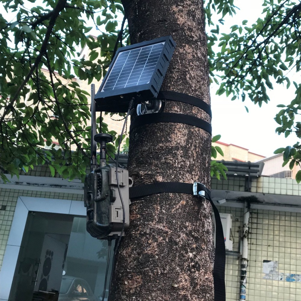 4G Hunting Camera Solar Panel For Photo Traps External Battery Solar Charger 3000mAh Aluminum Battery Polymer Solar Power Supply (4)