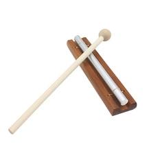 Solo Chime на деревянной основе w/Mallet одиночный стержень для Йога медитации энергии