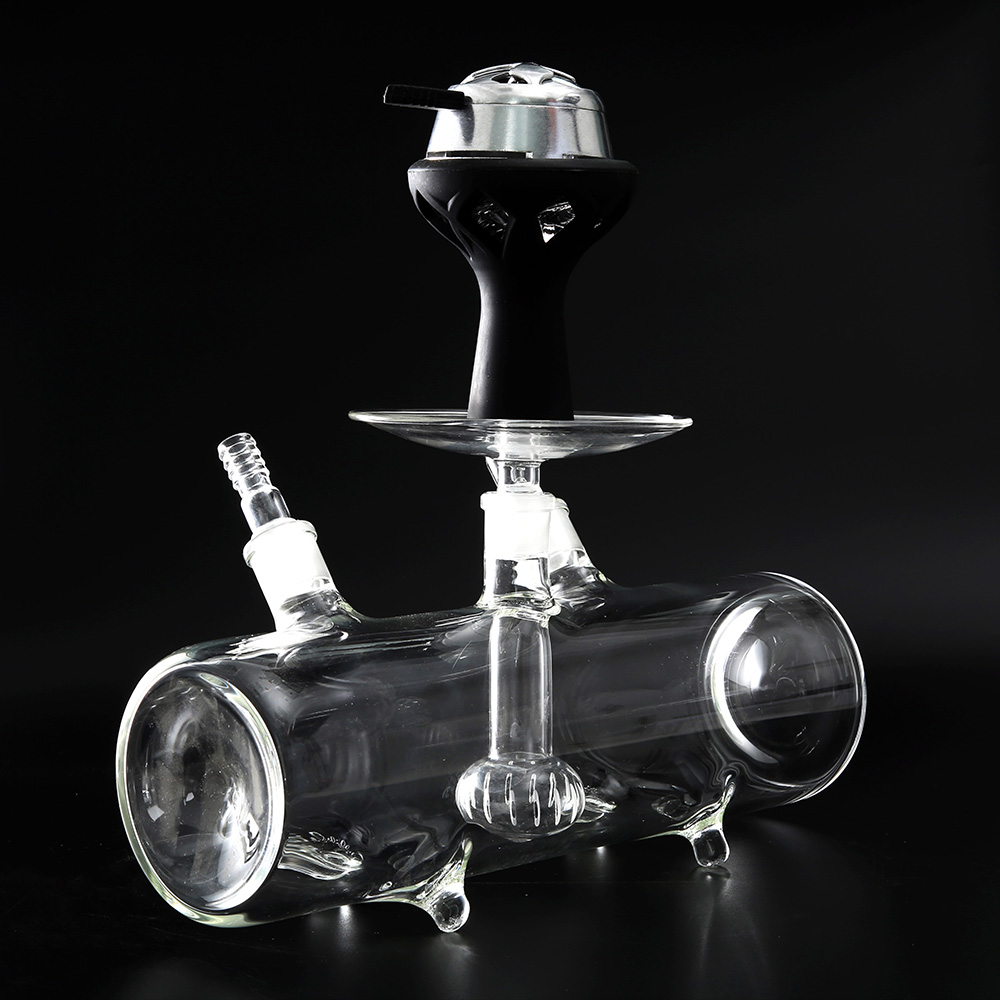 1PC 18 8mm male dia connection glass ash tray for lavoo hookah shisha fit kaloud lotus silicone bowl clay chicha head in Shisha Pipes Accessories from Home Garden
