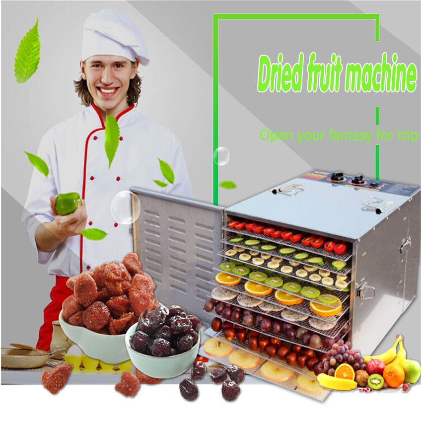 1PC Fruits and vegetables, nuts machine Herbs meat air drying machine Stainless steel dryers household food аккумуляторная батарея для canon digicare plc e10