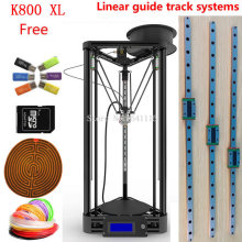heated bed with linear guide LCD Display Reprap Delta Rostock balck or gold k800xl DIY Kit kossel 3D Printer kit