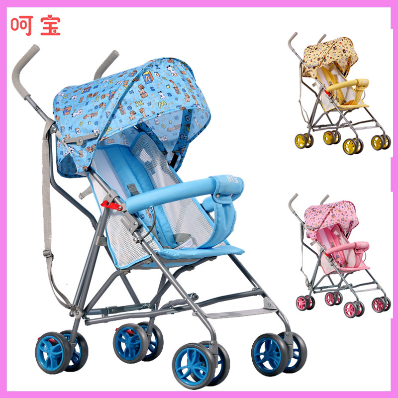 HOPE New Super Light Portable Cartoon Baby Stroller Summer Can Sit Half Lying Umbrella Car Simple Baby Carriage Pram Wheelchair