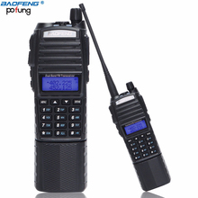 BaoFeng UV 82 เครื่องส่งรับวิทยุ 5W 3800Mahแบตเตอรี่Ham 10Km Two WayวิทยุCbที่มีประสิทธิภาพแบบพกพาแบบDual PTT Uv82 วิทยุล่าสัตว์