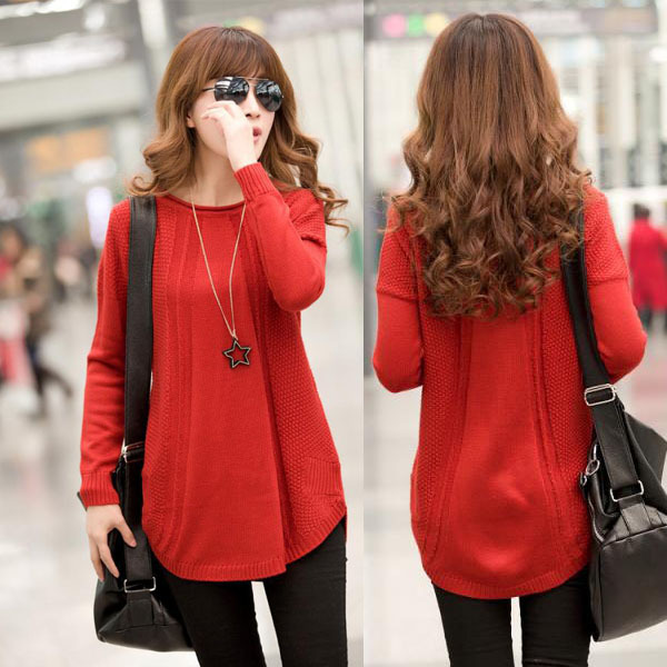 Sweaters 2014 Women Fashion: Korean Medium Long Retro Vintage Long ...
