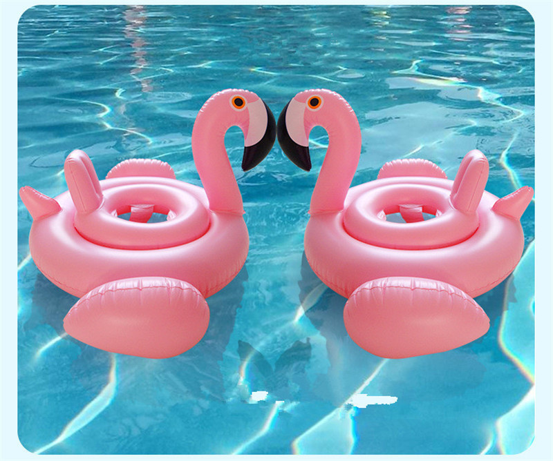 2018Summer Must-haves Outdoor Swimming Pool baby Seat Float Inflatable Flamingo Swan Pool Float Water Fun Pool Toys For Children