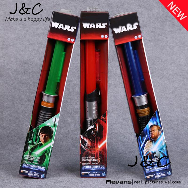 Star Wars Lightsaber Darth Vader Luke Skywalker Obi-Wan Cosplay Sword with LED Light Star Wars Laser Sword SWFG069 2pcs cosplay star wars lightsaber sound telescopic led flashing light sword toys weapons sabers pvc action figure toy gifts boys