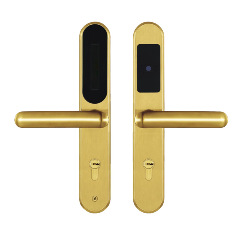 Electronic RFID Card smart Door Lock with Key Electric Lock For Home Hotel Apartment Office Latch with Deadbolt lk510SG