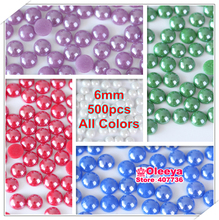 New 6mm 500pcs Ceramic DMC Hotfix Rhinestones Flatback Half Round Pearls  Iron On Hot Fix Strass Stones For DIY Y3700 a0eb0e4966bf