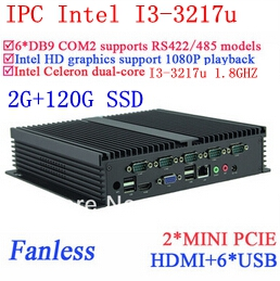 Intel I3 IPC font b Mini b font pcs Gigabit Ethernet NM70 6 USB 6 COM