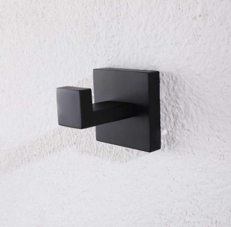 304 wieszak na ręcznik ze stali nierdzewnej naścienny wieszak na płaszcze akcesoria łazienkowe czarne do farbowania wykończenie wieszak ścienny Modern Vintage