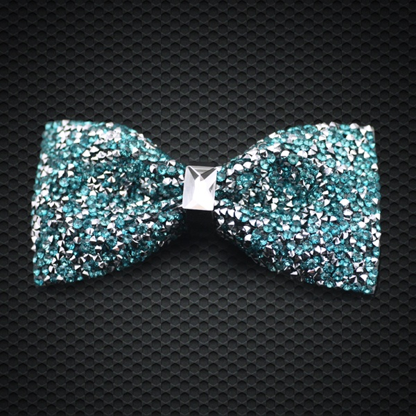 Apparel Accessories Trend Mark 2017 Fashion Bow Tie Crystal Green Color Mens Tuxedo Adjustable Bowtie For Men Gift Box Formal Wedding Party Lh-205