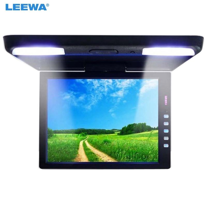 LEEWA 13 3 Inch Car Bus TFT LCD Roof Mounted Monitor Flip Down Monitor 2 Way