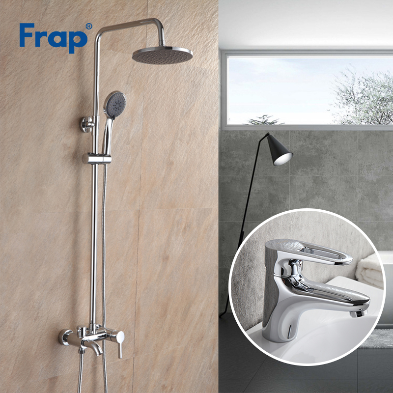 Frap Top Quality Bath Shower Faucets Set Bathroom Mixer