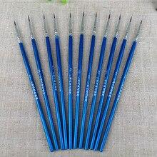 6Pcs/Set Fine Hand-painted Hook Line Pen Drawing Pen Art Pen high-grade nylon hair brush Scattered not forked Paint Brush