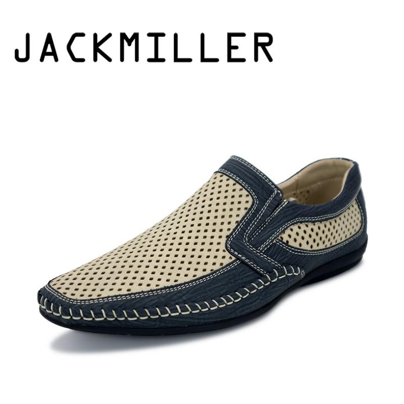 Jackmiller Prime Model Males's Loafers Summer season Males's Informal Sneakers Breathable Tender Mild Weight Slip On Sneakers For Mens Measurement 40-45