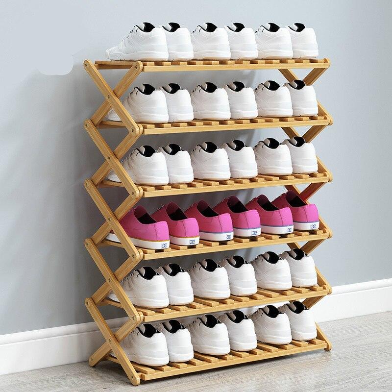 Shoe rack simple household dust proof folding storage rack multi-layer Shoe cabinet shoes shelf  sapateira zapatero mueble