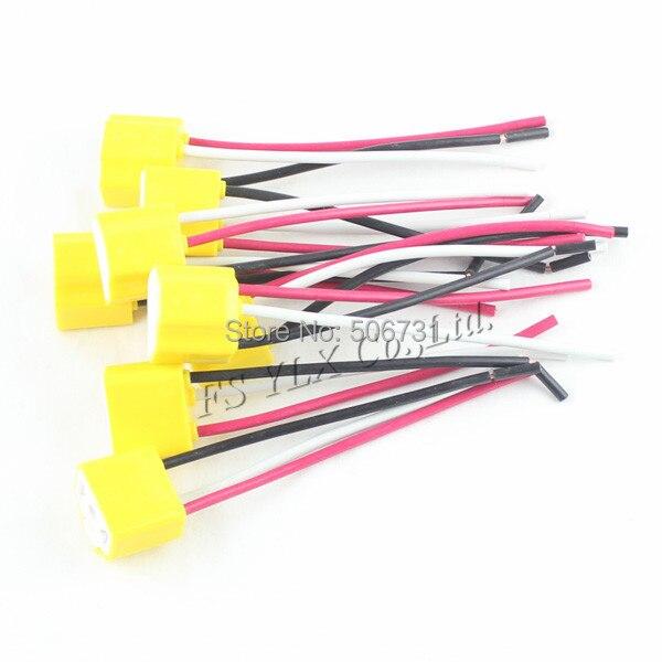 FSYLX 30 шт. H4 9003 светодиодная Женская Керамическая противотуманная фара, переходник с удлинителем, автомобильный Грузовик, заглушка, лампочка, провод, розетка, адаптер