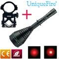 UniqueFire светодиодный тактический фонарь Flashligt 1508 XR-E T75 светодиодный перезаряжаемый фонарик Масштабируемая лампа + крепление для прицела для о...