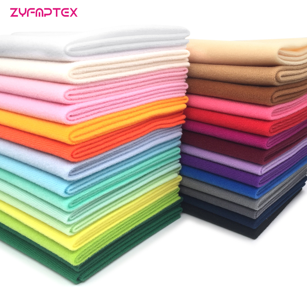 ZYFMPTEX moins cher bricolage poupée Textile tissu largeur 140 cm Fiber haute densité sieste Telas Tissus couture Patchwork fait à la main 29 couleurs