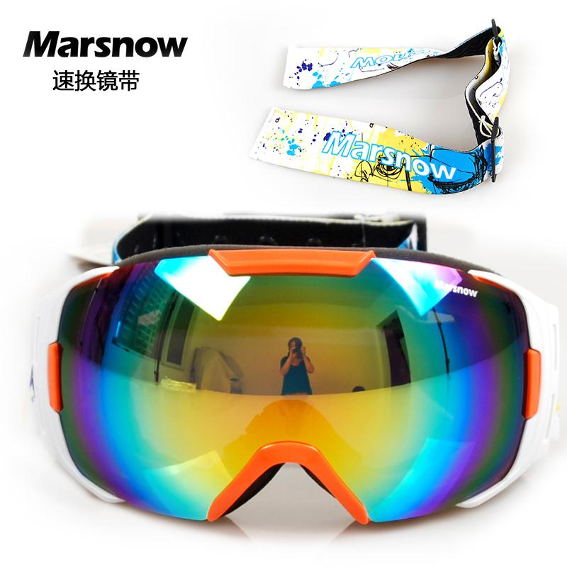 Two Exchangeable Belts 2016 Snowboard Goggles For Men Women Big View High Quality Snow Glasses Double Layer Skiing Goggle M0086