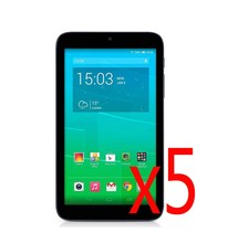 "5x filme + 5x Tuch, premium HD Crystal Clear Screen Protector Schutz Film Guards Für Alcatel One Touch OT-P330X P330X 7""(China)"