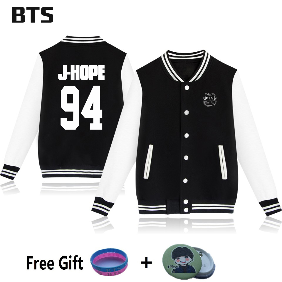 BTS Baseball Jacket Rap Monster Jungkook V Bangtan Boys Kpop Wings Casual Fashion Winter Coats And Jackets For Women Large Size