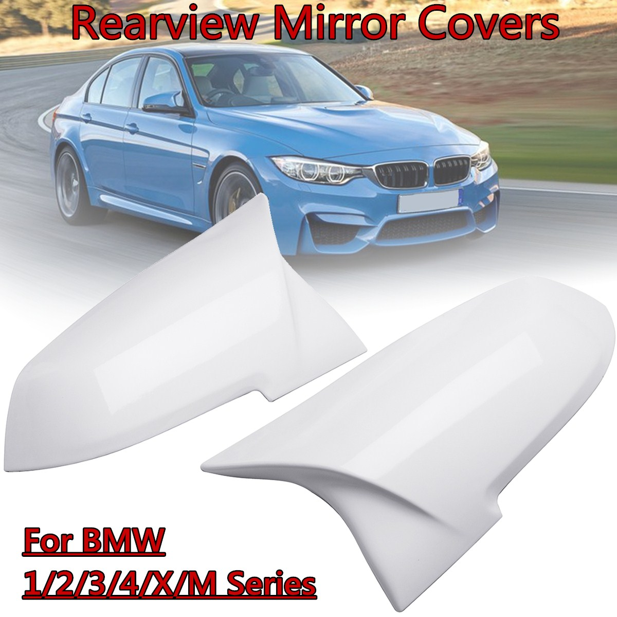 Have An Inquiring Mind For Bmw 1/2/3/4/x/m Series F20 F21 F22 F23 F87 X1 M2 2012-2018 Pair White Abs Rearview Mirror Cover Cap Meticulous Dyeing Processes Auto Replacement Parts Automobiles & Motorcycles
