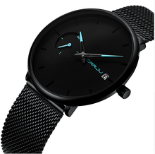 CRRJU mens watches  top brand luxury Simple Stainless Steel Fashion & Casual Mens business watch