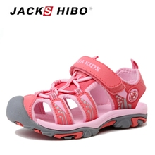 JACKSHIBO Kids Sandals Toddler Children Beach Closed Toe Water Shoes for Girl Cut-out Slippers Lightweight