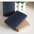 24PCS Kraft Darawer Box Black Paper Carrying Cases Blank Gift boxes Drawer Box Gift Craft Power Bank Packaging Cardboard Boxes