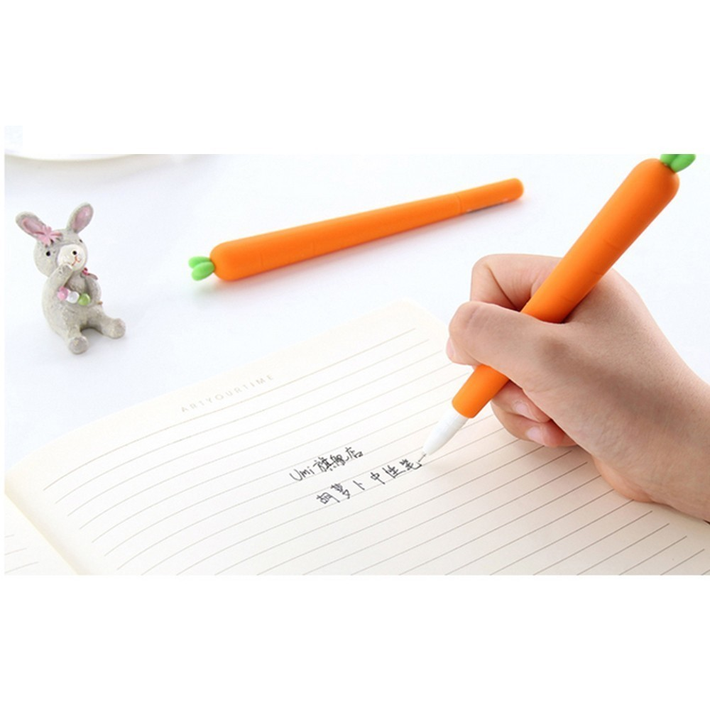 BP1 Pack Personality Black Refill Creative Stationery Korean Personalized Water Gel Gel Student Carrot WJ-ZXB4