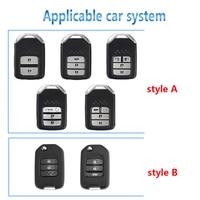 remote key For Honda CRV Civic Accord XRV VEZEL Key Case Saver Cover Key Shell Storage Bag Car Key Remote Control Protective Holder Case (5)