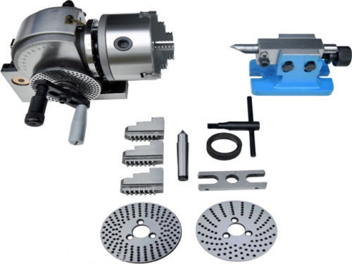 ECO Semi 5 Indexing Dividing Spiral Head 3-Jaw Chuck Tailstock CNC Milling New tristan  yates enhanced indexing