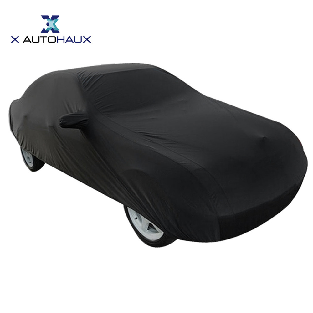 X Autohaux 490*180*160cm 3XL Black Breathable Outdoor Waterproof Dustproof Rain Snow Anti UV Heat Car Cover Exterior Car Covers