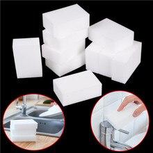 10 шт белая волшебная губка Ластик Меламиновый очиститель Многофункциональные кухонные инструменты для уборки ванной комнаты губка