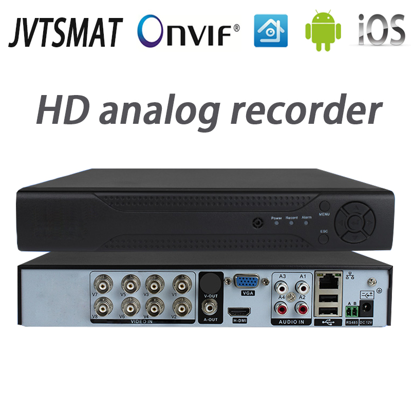 jvtsmart AHD DVR 4Channel 8Channel Video Recorder 5in1 CCTV AHD CVI TVI Analog IP Hybrid Security