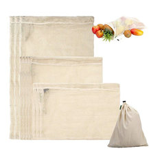 Многоразовые сетчатый мешок из хлопка дома кухня овощей сумки Pruduct фруктов и овощей хранения интимные аксессуары легко чистить S/M/L