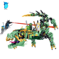 592pcs Movie Series Flying Mecha Dragon Building Blocks Bricks Toys Children Model Gifts Compatible With Legoe