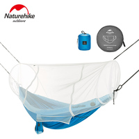 Naturehike 1 2 Person Outdoor Hammock Camping Hanging Sleeping Bed Swing Portable Double Chair Hamac with Mosquito Net
