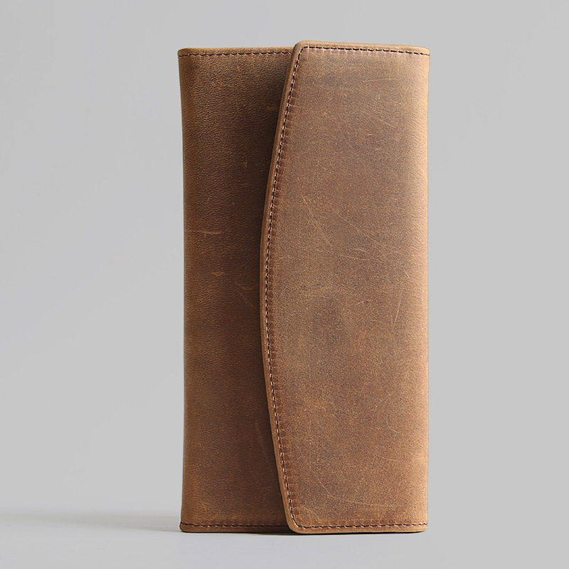 2018 Luxury Men Wallets Trifold Long Genuine Leather Purse Large Capacity Phone Bag Real Cowhide Women Day Clutches Business