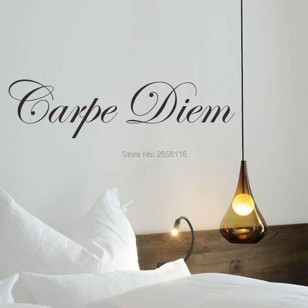 Latin Quotes DIY Carpe Diem Vinyl Wall Decal Art Mural Sticker for Living Room Bedroom Decoration ...