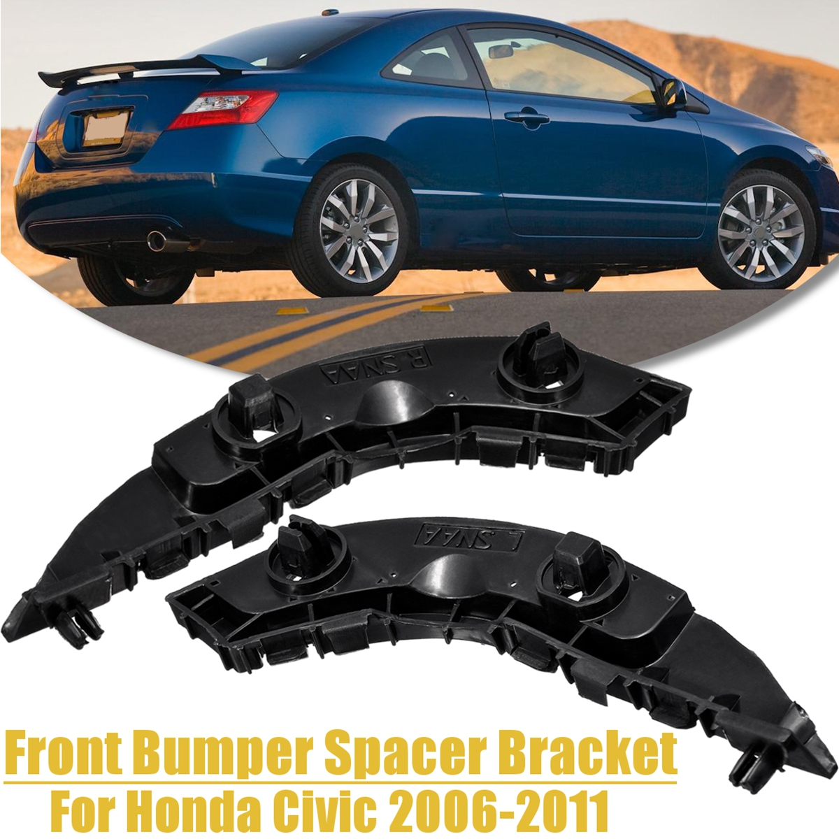 Bumper Bracket For 2006-2011 Honda Civic Sedan Models Front Passenger Side