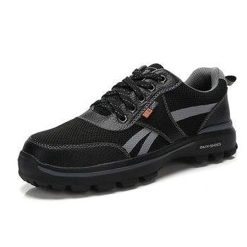 British style men fashion large size steel toe caps work safety shoes worker insulated shoe anti-pierce security boots protect