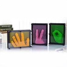4 Dimensiune DIY Ciudate Handprint 3D Clone Model de mână Varietate Pin Pinart Pictura Practic Bancuri Jucării Cel mai bun cadou