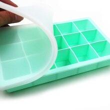 15 сетчатый пищевой силиконовый лоток для льда для дома с крышкой DIY Форма для кубика льда квадратной формы аксессуары для кухонного бара